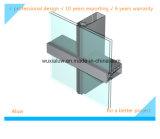 Mur rideau en verre Semi-Caché de bâti