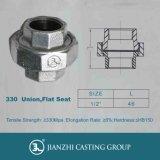 Jianzhi Marke galvanisierte schwarze formbares Eisen-Rohrfittings von 330 flachen Sitzverbindungsstücken