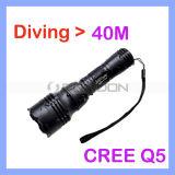 600lm 5 Modes Waterproof Diving Flashlight Underwater Waterproof Submarine Light Lamp Torch