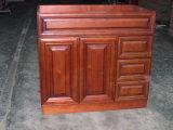 Cherry Glaceado Armários de banheiro de madeira maciça Yb121 (23)