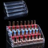 Crémaillère d'étalage acrylique transparente personnalisée de vernis à ongles