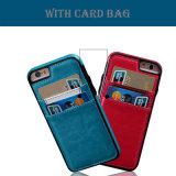iPhone 7のためのカード袋が付いているFationの本革の箱