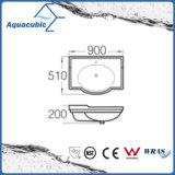 Ванная комната Semi-Recessed керамические кабинета бассейна мытья рук раковину (ACB4280)