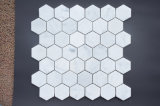 Mosaïque de marbre blanc de Carrare hexagone perfectionné Wall Tile