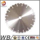 Diamantes soldada con láser Hoja de sierra circular para asfalto/concreto reforzado