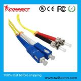 Cable de conexión de fibra St-Sc Duplex 1mt