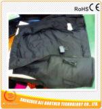 (Tamanho europeu) veste aquecida das almofadas de aquecimento de Xxxl 7 bateria preta