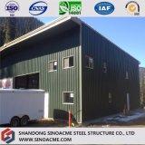 Gruppo di lavoro d'acciaio prefabbricato della costruzione con il mezzanine