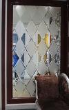 art en verre de guichet de porte de choc de configuration de mur du fond 3D d'art de peinture Tempered en verre de construction décoratif