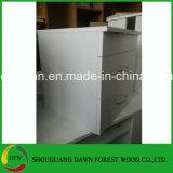 Gabinete das gavetas da placa dois da melamina da mobília do painel