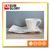 Bone China Wave-Shaped Coffee Cup et Saucer of Bd054