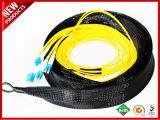 LC-LC Vor-konfektioniertes Mehrfachverbindungsstelle Belüftung-Faser-Optikmehrmodenkabel