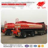 De Aanhangwagen van de Tanker van het Zwavelzuur van het Gewicht van de Tarra van het roestvrij staal 8t
