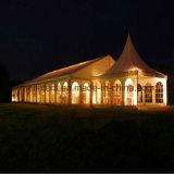 500人はヨーロッパのテントの結婚披露宴の玄関ひさしを空想する