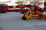13m 15m 17m 18m 23m Mobile Concrete Placing Boom com 4 Wheels Trailer