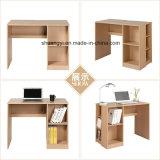 Muebles de oficina en casa de madera de embalaje plano PC de escritorio con estantería