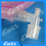獣医の麻酔呼吸回路Midsplitの管