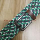 Hilo verde y blanco Correa Elástica cinturón trenzado