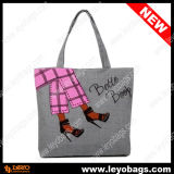 Sacco della tela di canapa del cotone delle signore delle ragazze dello stilista, borsa del Tote (BB130802)