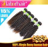 人間のHair Weave 7A NaturalブラジルのKinky Curly Virgin Remy Extension Lbh 025
