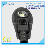 luz de rua ao ar livre do diodo emissor de luz de 30W a Philips Lumileds com excitador de Meanwell