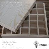 Hongdao Venta caliente! Caja de madera con tapa transparente para el té y aceite esencial el embalaje