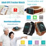 Un reloj elegante más viejo del perseguidor del GPS con la supervisión Y16 del ritmo cardíaco