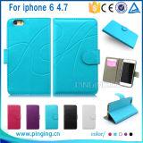 Портмоне из натуральной кожи Flip слоты для карт памяти подставка чехол для iPhone 6/6s