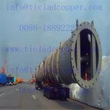Strato di tubo di titanio per lo strato di tubo d'acciaio dello scambiatore di calore per lo scambiatore di calore