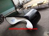 Bureau van de Computer van de Hoek van Guangdong van het Kantoormeubilair van de luxe Het Uitvoerende Gebogen Marmeren Moderne
