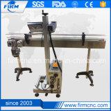 Marcador láser de metal metaloide volando marcadora láser de fibra