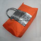 Orange Microfiber kombinierte mit PU-Form-Dame-Arbeitsweg-Beutel