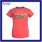 Normallack-Zoll gedrucktes Unisexbaumwollt-shirt
