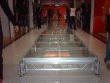 Étape mobile en aluminium portative d'étape en verre d'alliage d'aluminium