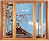 中国の製造者(ACW-055)からの熱い販売の高品質の熱壊れ目の木製の穀物カラーアルミニウム開き窓Windows