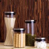 Les emballages alimentaires en verre Couvercle en verre scellée Seasalt Jar Jar Cartouche en verre