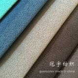 Tissu flexible de sofa de velours de cheveu court avec le support de T/C