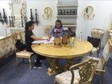 Europäischer Art-Tisch und Stuhl/Luxuxosten-Art-Gaststätte-Möbel/Hotel-Möbel/Esszimmer-Möbel (GLPLD-036)