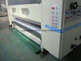 Impresión acanalada automática de alta velocidad de Flexo del cartón que ranura la máquina que corta con tintas