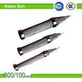 BS-obenliegender Aluminiumleiter-Stahl verstärktes Leiter-Kabel ACSR