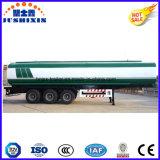 3 fuelóleo inflamável do aço de carbono do eixo 50cbm/do diesel/gasolina/petróleo cru petroleiro do caminhão reboque de serviço público Semi com silo 4