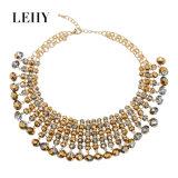 Nauwsluitende halsketting van de Juwelen van het Ontwerp van de Douane van het Verguld Glas van de manier de Hete voor Vrouwen