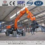 Máquina escavadora hidráulica da roda pequena da maquinaria de Baoding