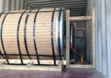 Sobre el cargamento de acero de la bobina en el envase