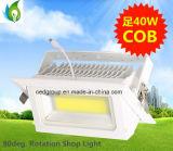 85-265V Deluce 40W COB Wallwasher retangular rebaixada LED LED Driver Builtin recordações Light