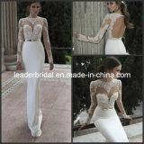 Novo Berta ilusão de Inverno Applique Mermaid Suite vestidos de casamento roupões W1527