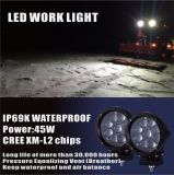45Wクリー族LED作業ライトバーの洪水の点SUV Offroaの運転