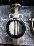 JIS 5k/10k tipo wafer de aço inoxidável da válvula de borboleta