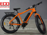 Bici de montaña con la bicicleta eléctrica del neumático gordo de la batería de litio