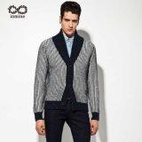 Usine de l'acrylique/nylon/de la laine Alpaga L'homme pullover à rayures/Cardigan avec le bouton